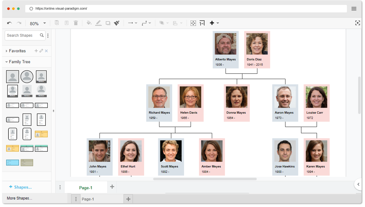 New Diagram  Family Tree For Visual Paradigm Online