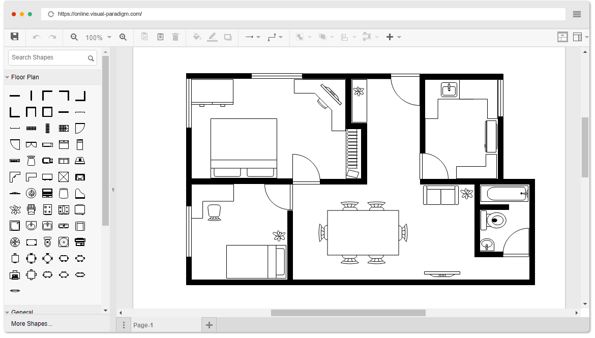 How to make a floor plan in microsoft powerpoint for How to make a floor plan online