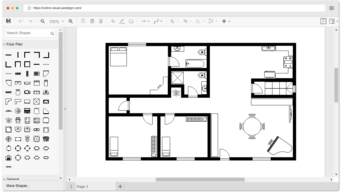 Online floor plan designer for House style examples