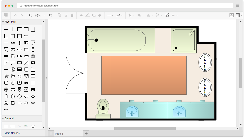 Free Bathroom Floor Plan Template