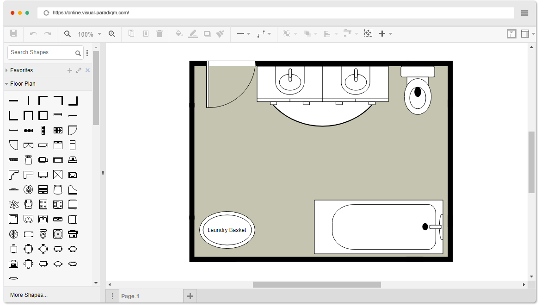 Office Floor Plan Templates Free: Free Bathroom Floor Plan Template