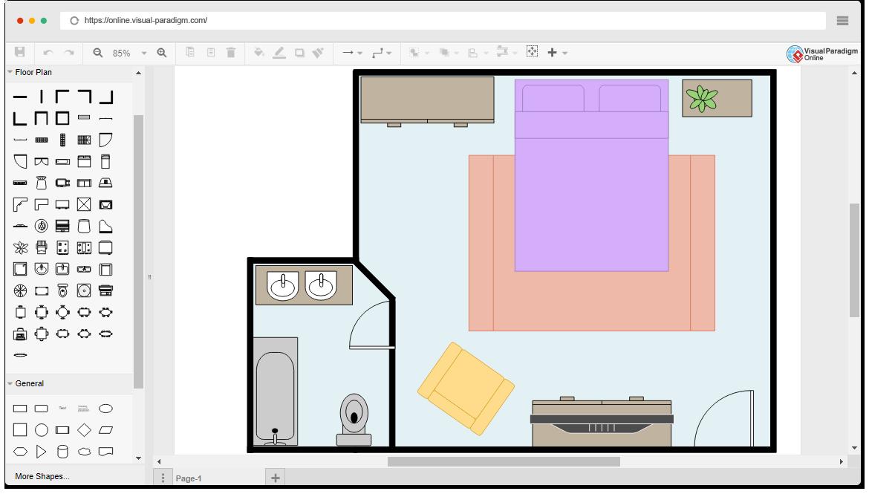Modelo de plano de chão de quarto grátis