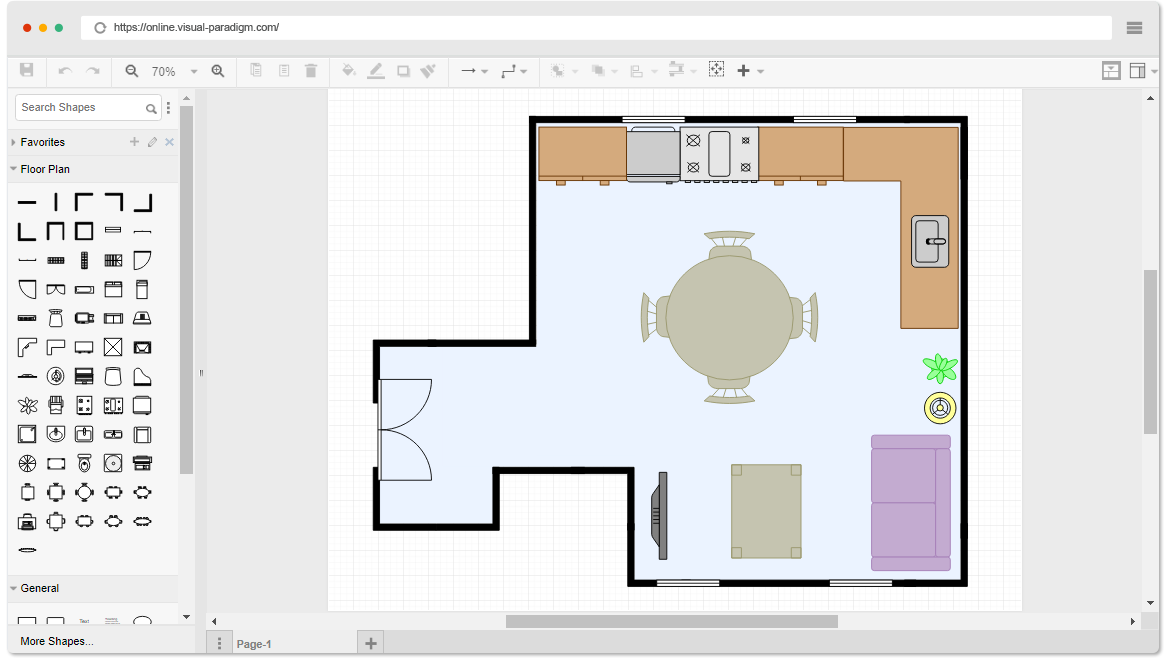 Free Dining Room Floor Plan Template