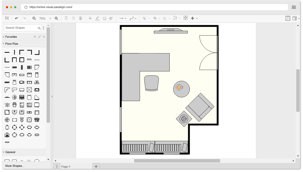 Free Home Office Floor Plan Template