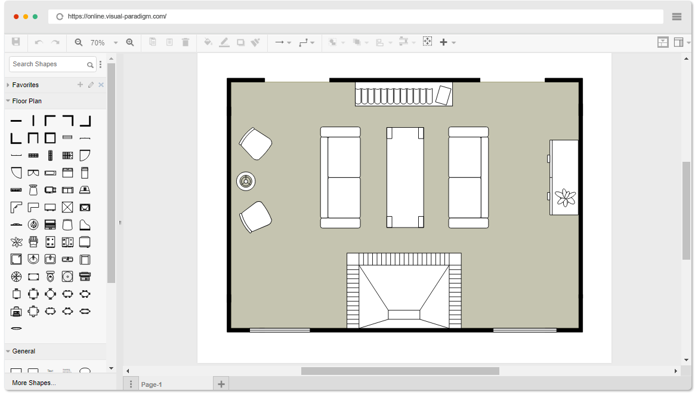 free living room floor plan template