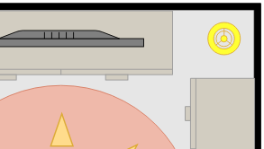 Bedroom floorplan template: Guest Bedroom (Drawn with the online Floor Plan software)