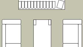 Living room floorplan template: Living Room Section (Drawn with the online Floor Plan software)