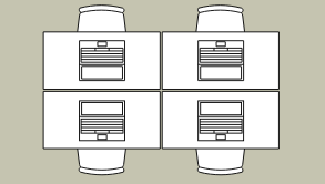 Work office floorplan template: Open Work Office (Drawn with the online Floor Plan software)