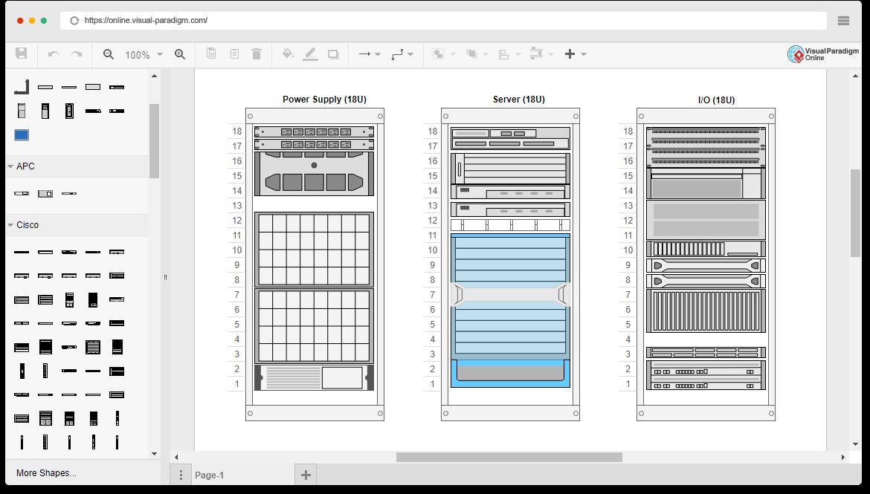 rack diagramm software. Black Bedroom Furniture Sets. Home Design Ideas