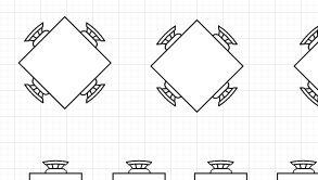 Seating chart example: Restaurant Seating Plan