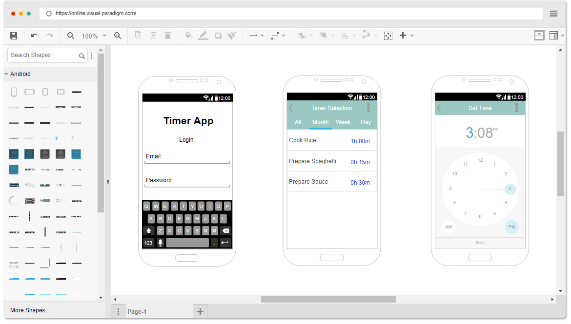 Android Wireframe Software