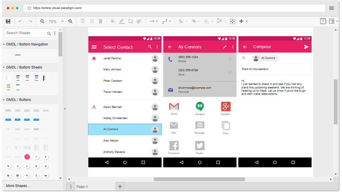 Material Design Wireframe Software
