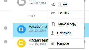 Material design wireframe example: File Manager