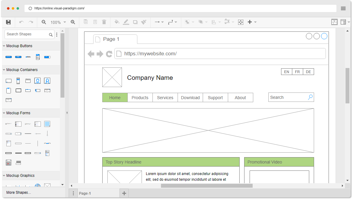 Mockups Wireframe Software