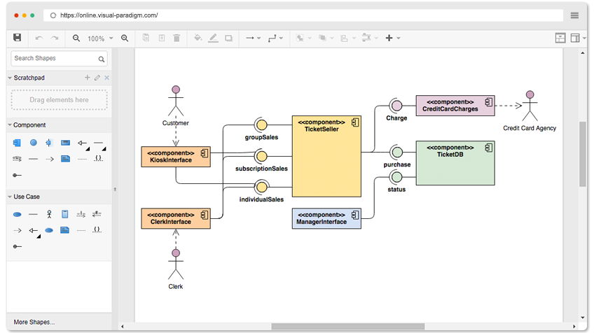 Free Component Diagram Tool