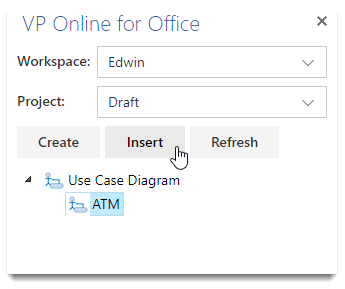 Inserting VP Online diagram into MS Word