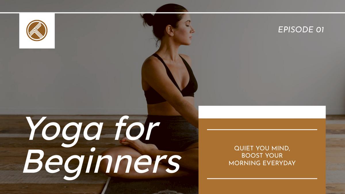 YouTube Thumbnail template: Yoga For Beginners Fitness YouTube Thumbnail (Created by InfoART's YouTube Thumbnail maker)