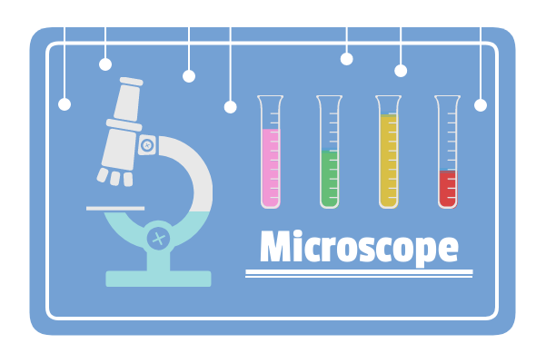 Medical template: Microscope (Created by InfoChart's Medical maker)