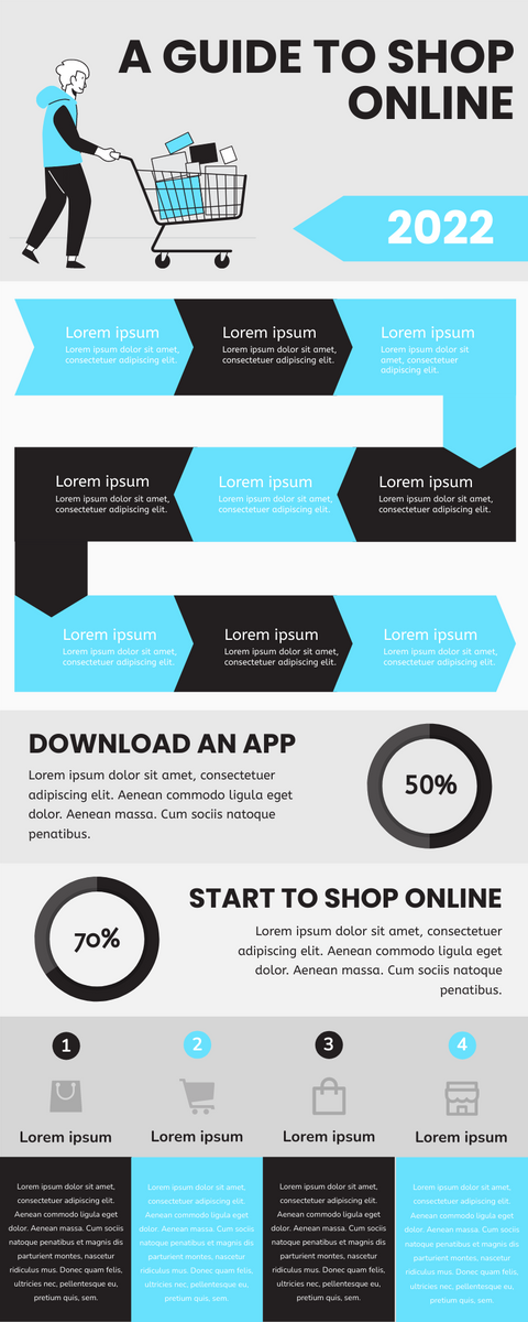 Infographic template: A Guide To Shop Online Infographic (Created by InfoART's Infographic maker)