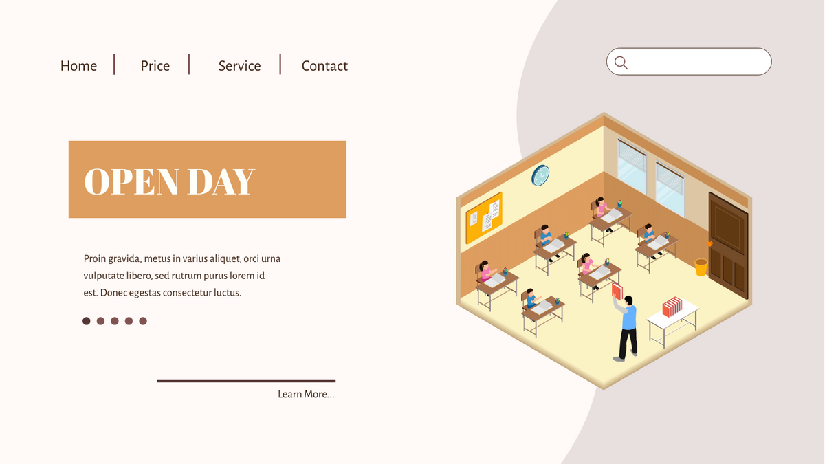 Isometric Diagram template: Open Day To  Class (Created by InfoART's Isometric Diagram maker)