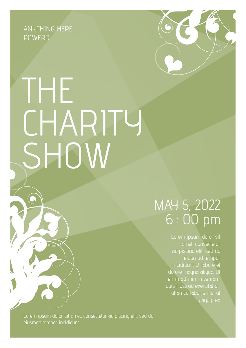 Poster template: Charity Show Poster (Created by InfoART's Poster marker)