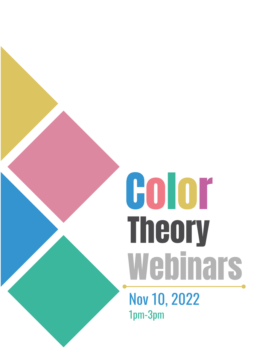 Poster template: Color Theory Webinars (Created by InfoART's Poster marker)
