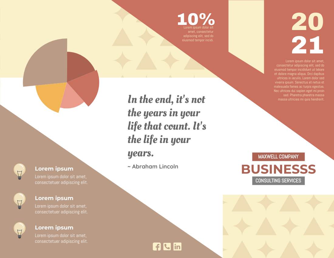 Brochure template: Business Consultant Analysis Brochure (Created by InfoART's Brochure maker)