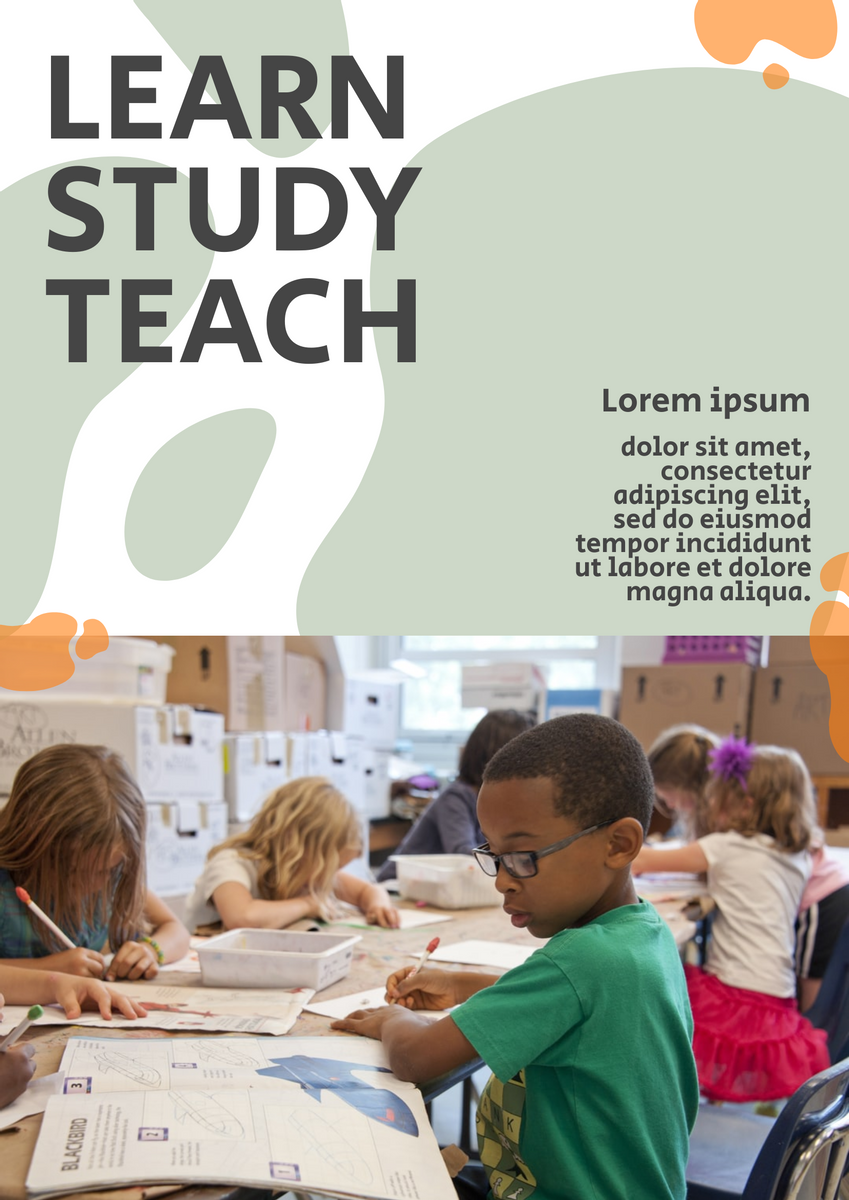Poster template: Learning Center Poster (Created by InfoART's Poster maker)