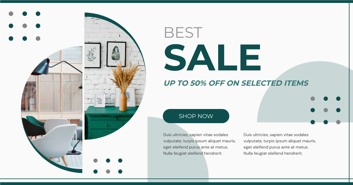 Facebook Ad template: Home Furniture Best Sale Facebook Ad (Created by InfoART's Facebook Ad maker)