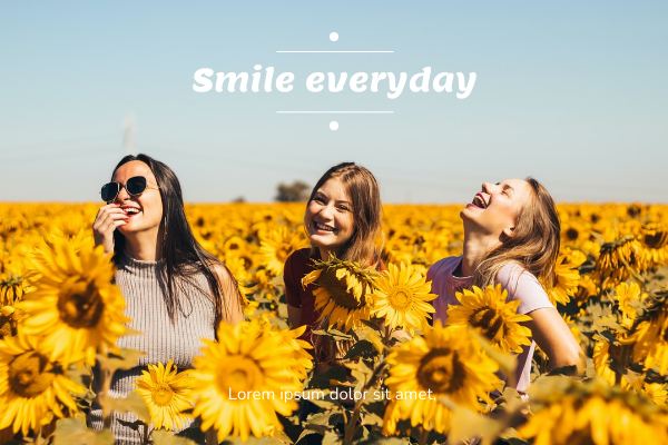 Greeting Card template: Smile Everyday Greeting Card (Created by InfoART's Greeting Card marker)