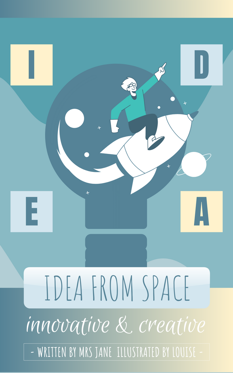 Book Cover template: Innovative Idea Training Story Book Cover (Created by InfoART's Book Cover maker)