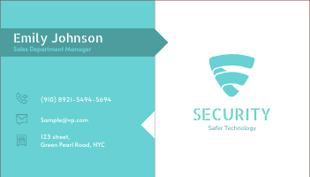 Business Card template: Security Business Card (Created by InfoART's Business Card maker)