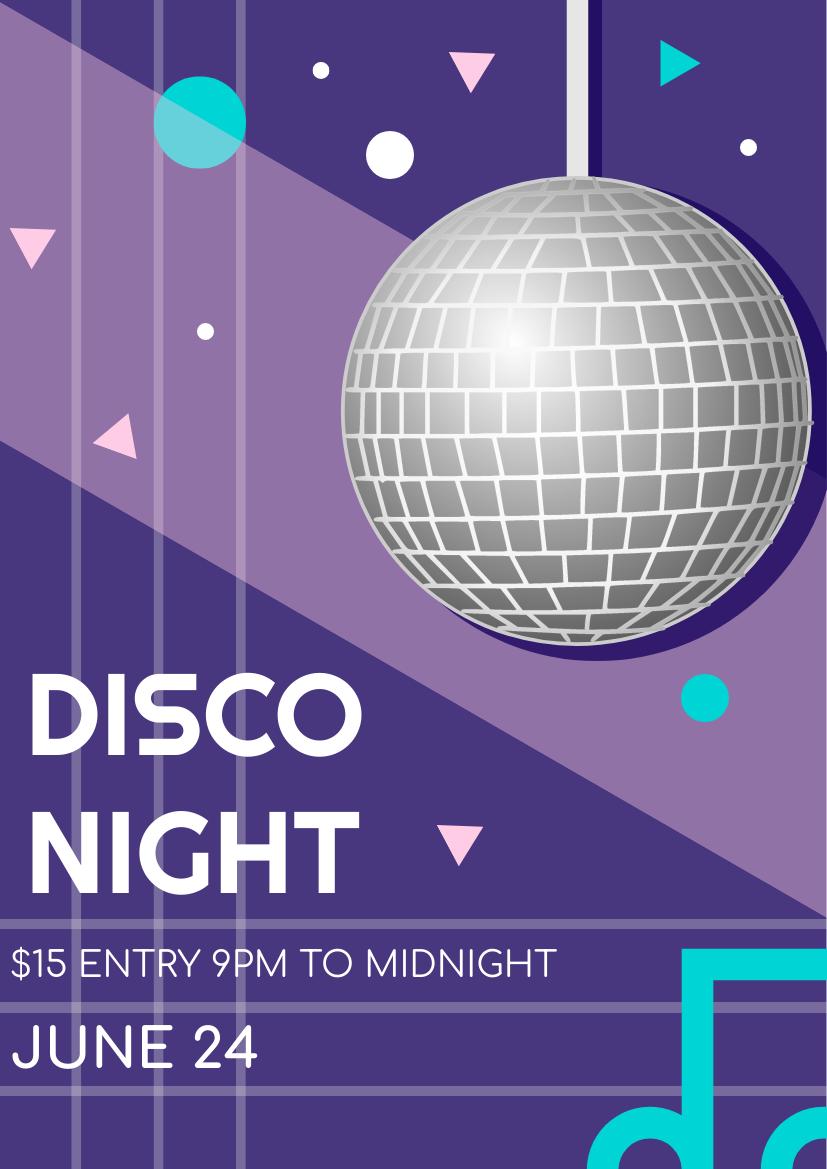 Flyer template: Disco Night Flyer (Created by InfoART's Flyer maker)