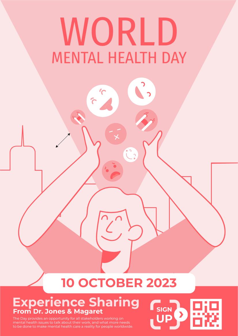 Flyer template: World Mental Health Day Flyer (Created by InfoART's Flyer maker)