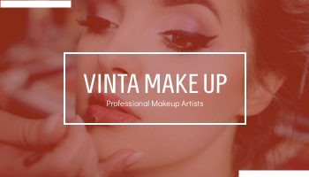 Business Card template: Red Photo Make Up Artist Business Card (Created by InfoART's Business Card maker)