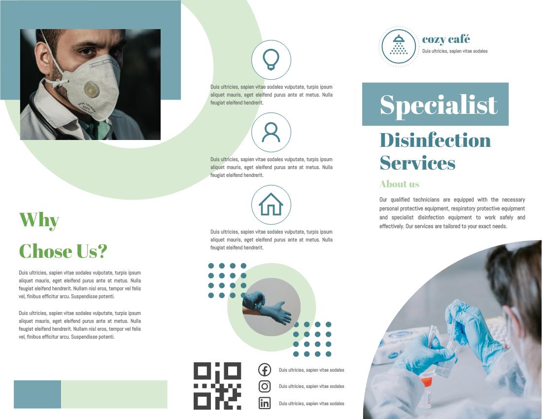 Brochure template: Specialist Disinfection Service Brochure (Created by InfoART's Brochure maker)