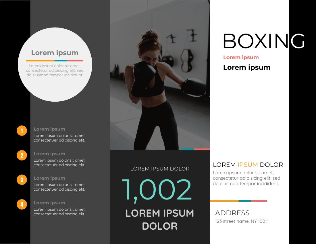 Brochure template: Boxing Brochure (Created by InfoART's Brochure maker)