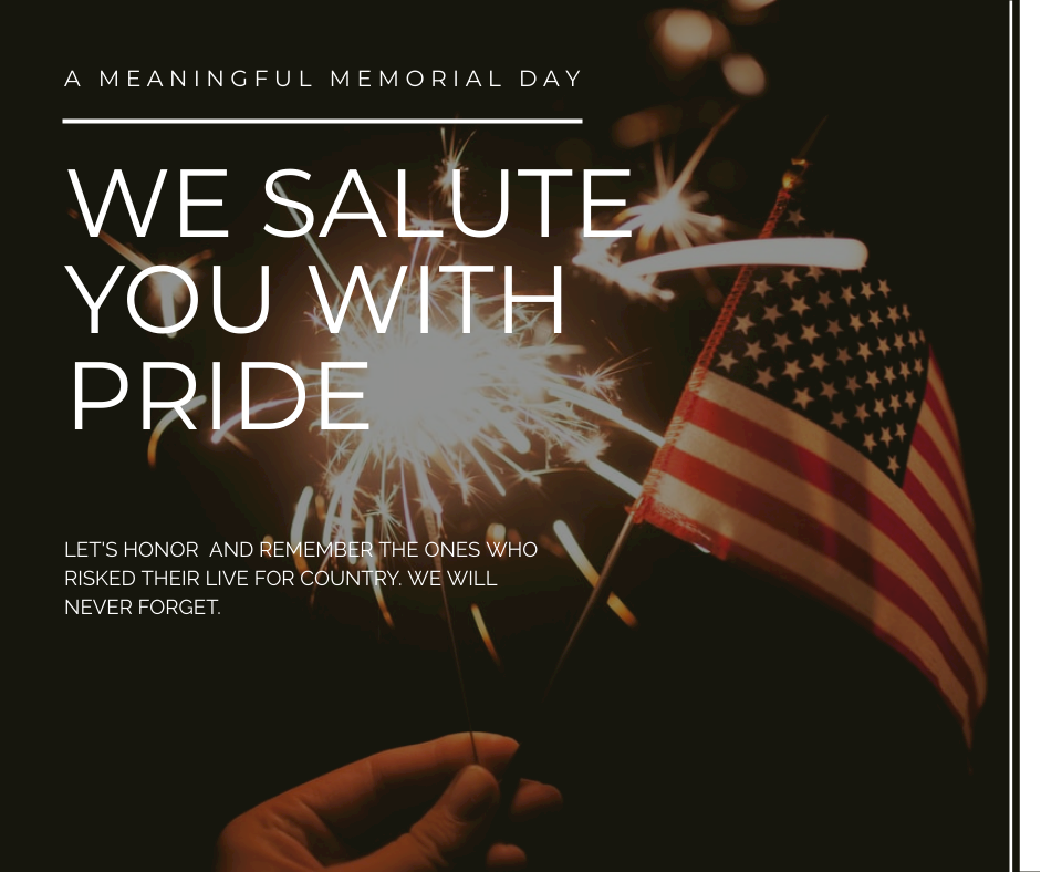 Facebook Post template: Fireworks And Flag Photo Memorial Day Celebration Facebook Post (Created by InfoART's Facebook Post maker)