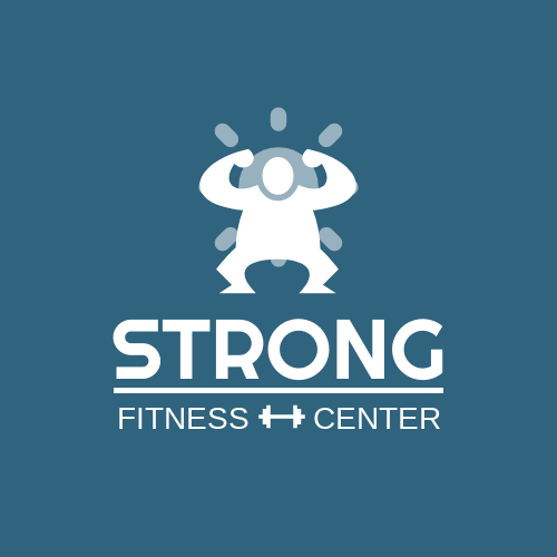 Logo template: Fitness Center Logo Created With Graphic Character Of Strong Person (Created by InfoART's Logo maker)