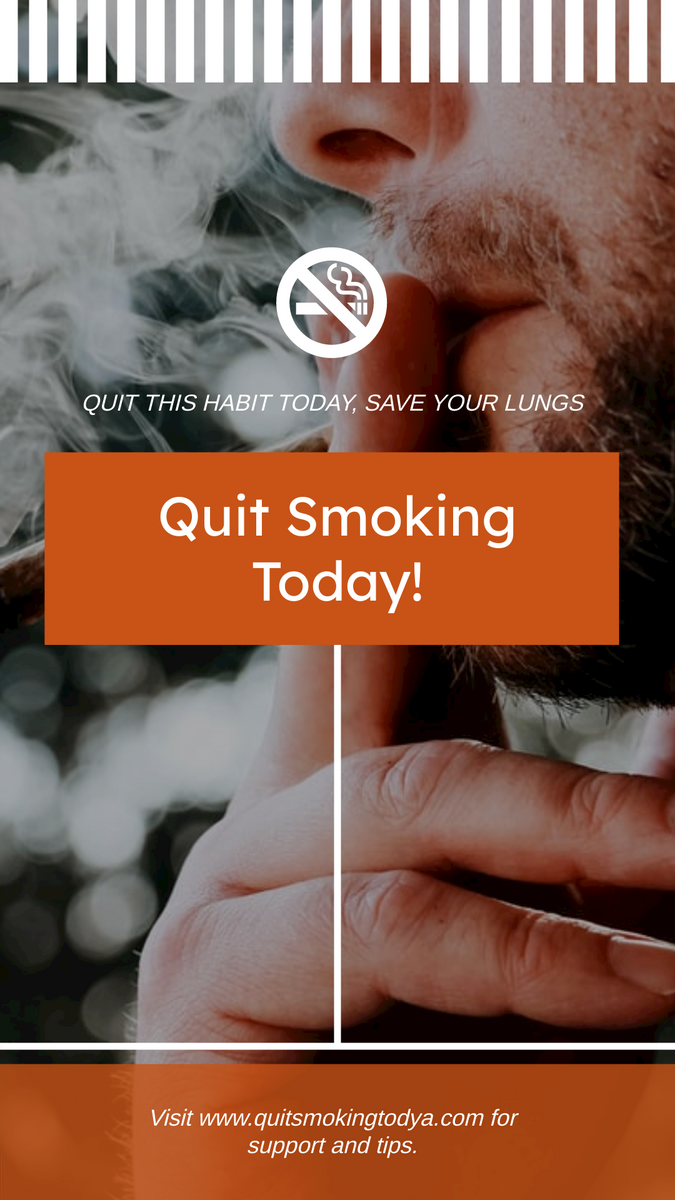 Instagram Story template: Smoking Photo World No Tobacco Day Instagram Post (Created by InfoART's Instagram Story maker)