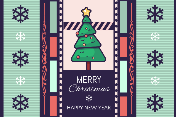 Greeting Card template: Green And Carol Christmas Greeting Card (Created by InfoART's Greeting Card maker)