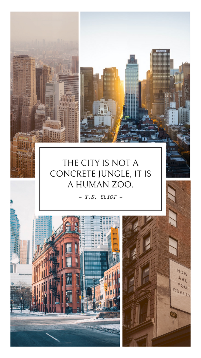 Instagram Story template: Minimal City Photo Collage With Quotes Instagram Story (Created by InfoART's Instagram Story maker)