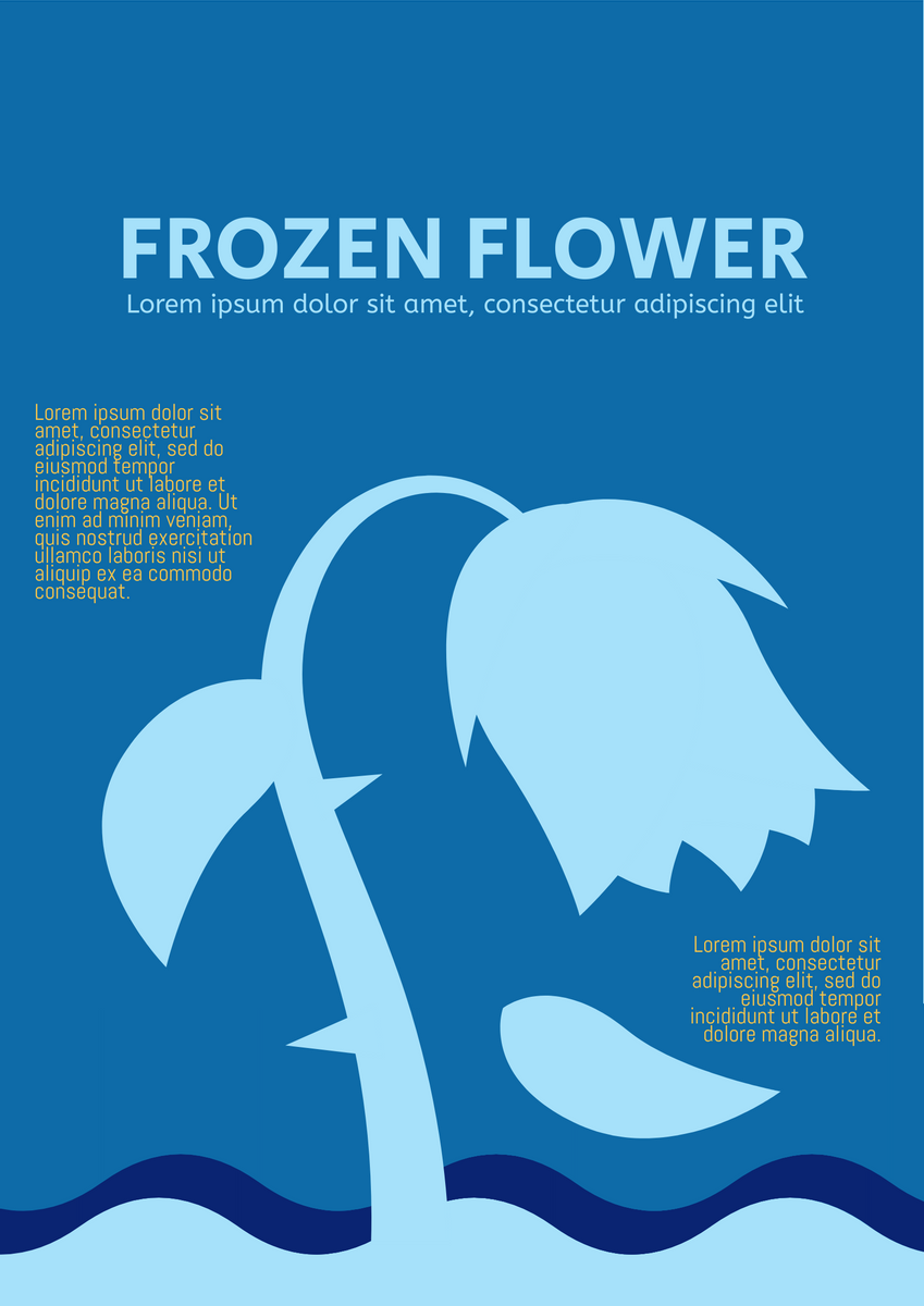 Poster template: Frozen Flower Poster (Created by InfoART's Poster marker)