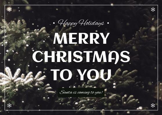 Postcard template: Green Christmas Tree Photo Postcard (Created by InfoART's Postcard maker)