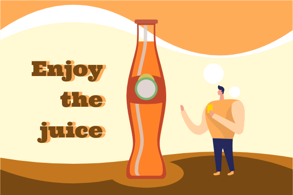 Container template: Enjoy The Juice (Created by InfoChart's Container maker)