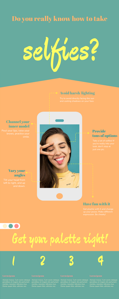 Infographic template: Selfies Infographic (Created by InfoART's Infographic maker)