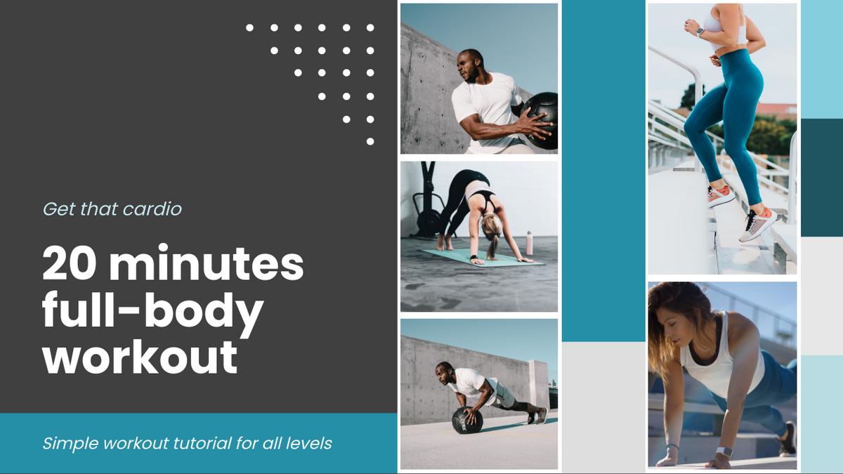 YouTube Thumbnail template: Full Body Workout YouTube Thumbnail (Created by InfoART's YouTube Thumbnail maker)