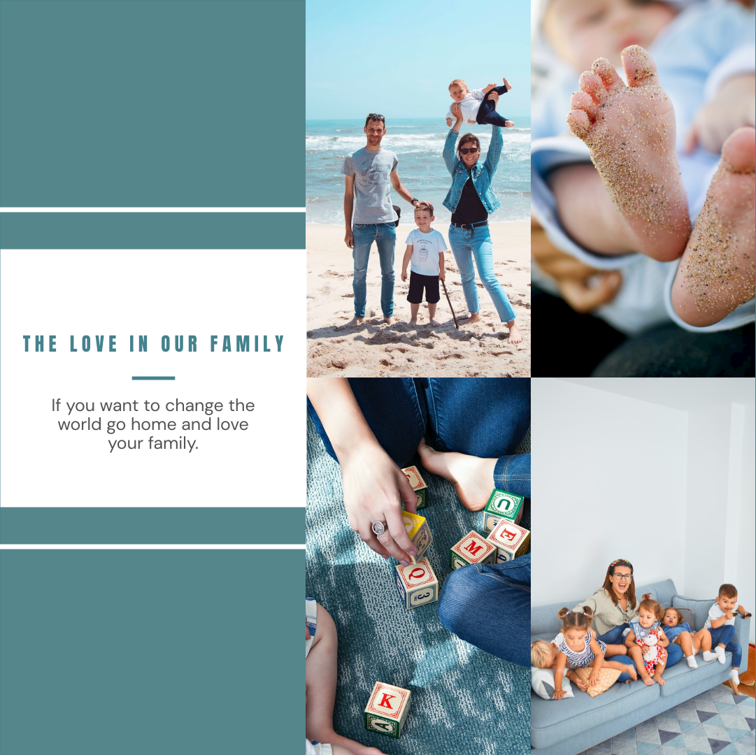 Photo Collage template: The Love In Our Family Photo Collage (Created by Collage's Photo Collage maker)