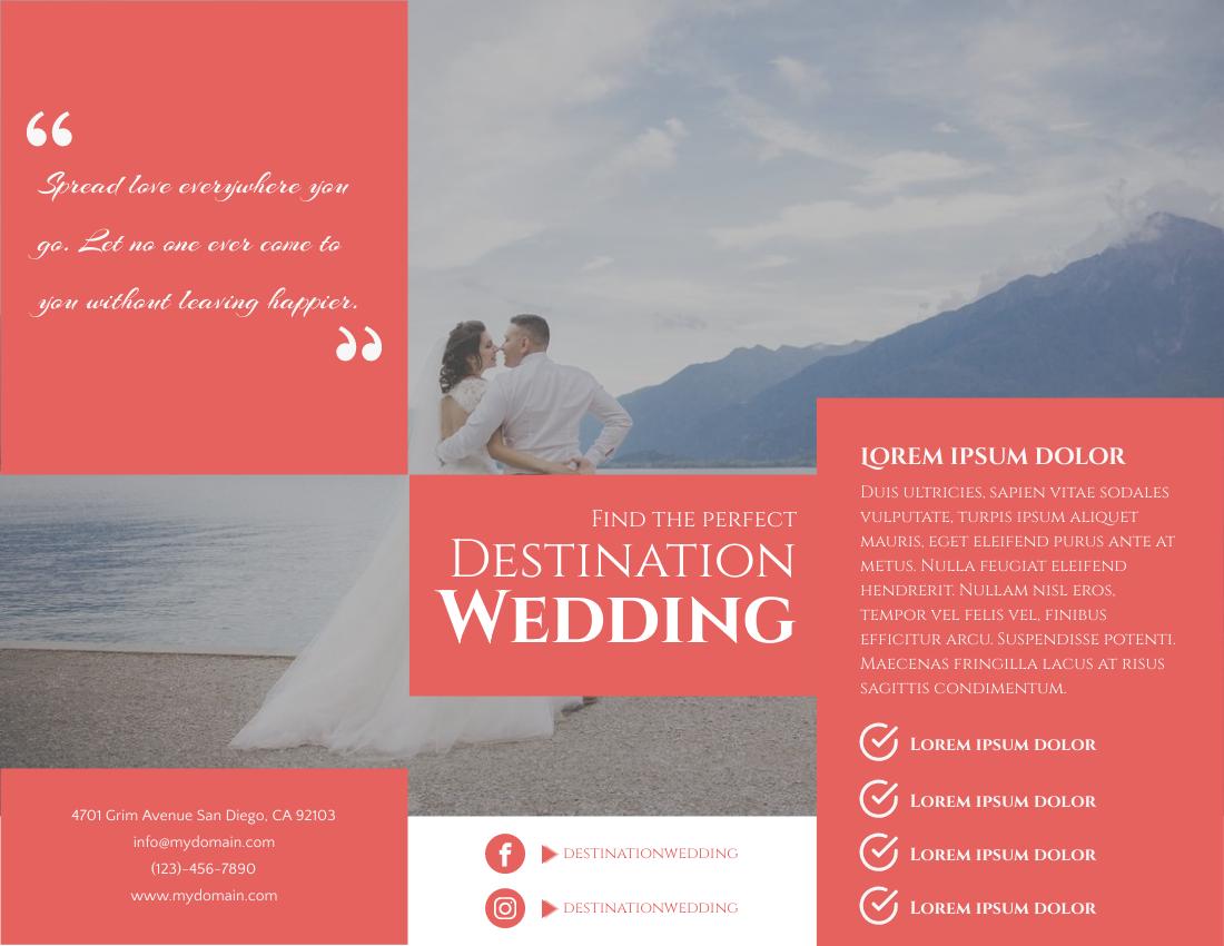 Brochure template: Destination Wedding Brochure (Created by InfoART's Brochure maker)