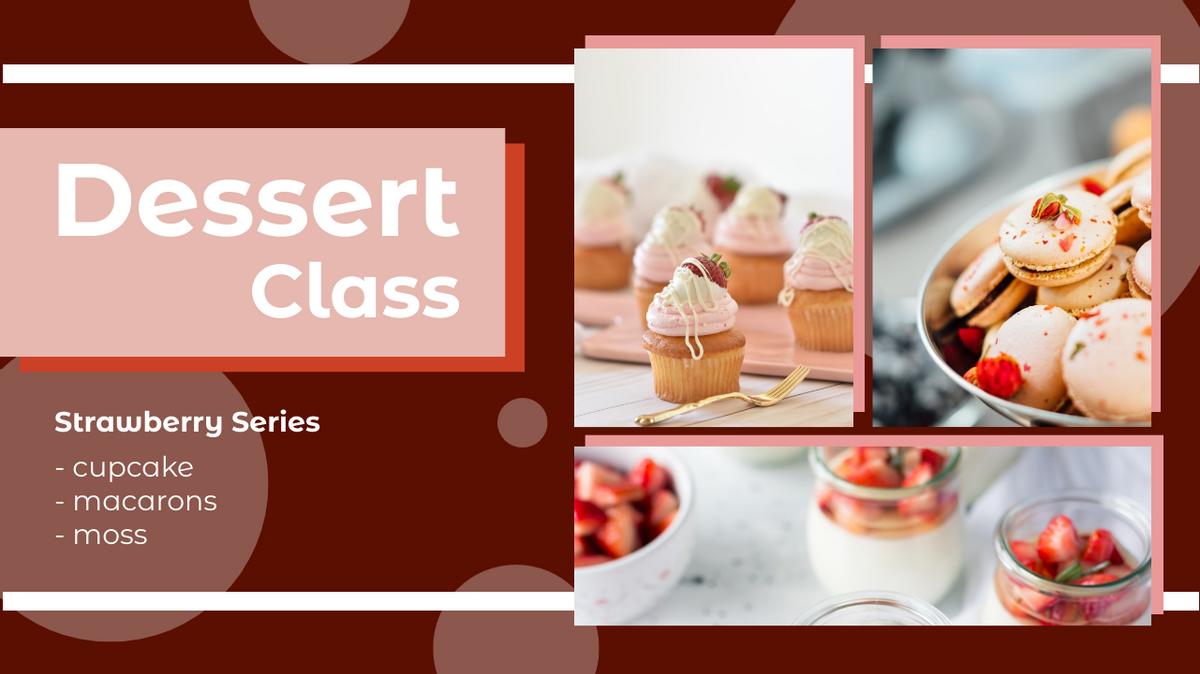 YouTube Thumbnail template: Dessert Class YouTube Thumbnail (Created by Collage's YouTube Thumbnail maker)